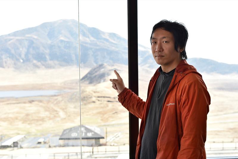 今回、館内をガイドしてくれた豊村克則さん「火山を知るということは自分たちの住んでいる日本、すなわち生活を守る手がかりを知るということなんです」と我々日本人の生活に密着していることを説明してくれた