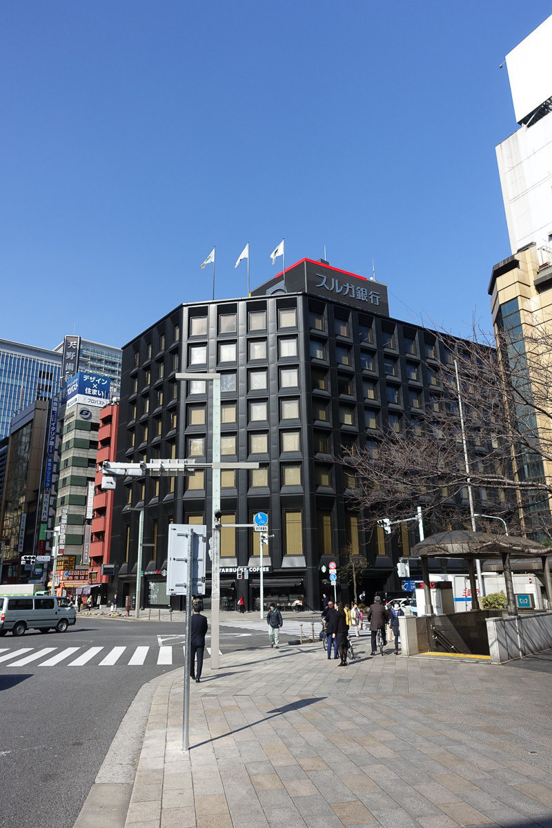 日本橋のすぐ側にあるスルガ銀行 東京支店