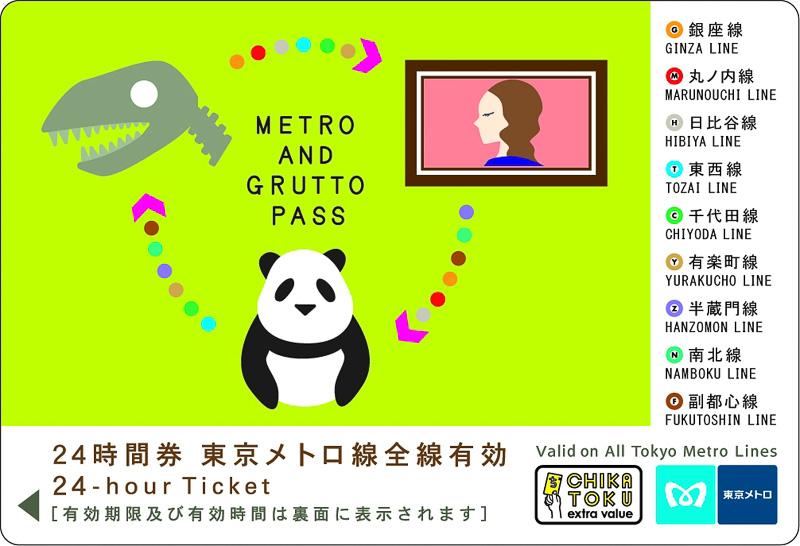 「メトロ&ぐるっとパス」限定デザイン24時間券(イメージ)