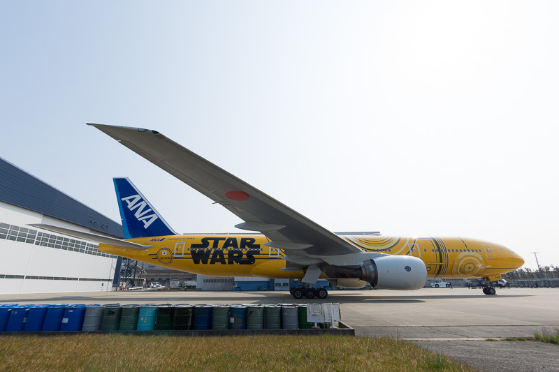 C-3PO ANA JETの左右側面
