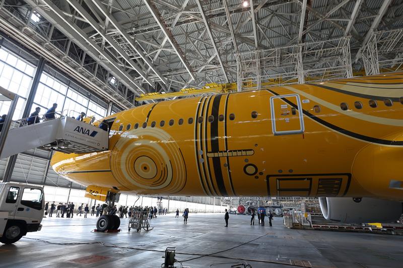 機体前方部の左側面