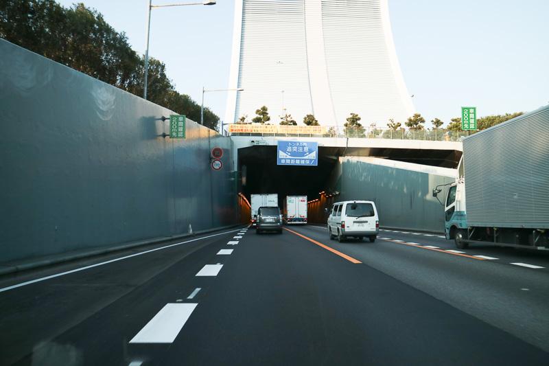 合流したらそのまま東京港トンネルへ