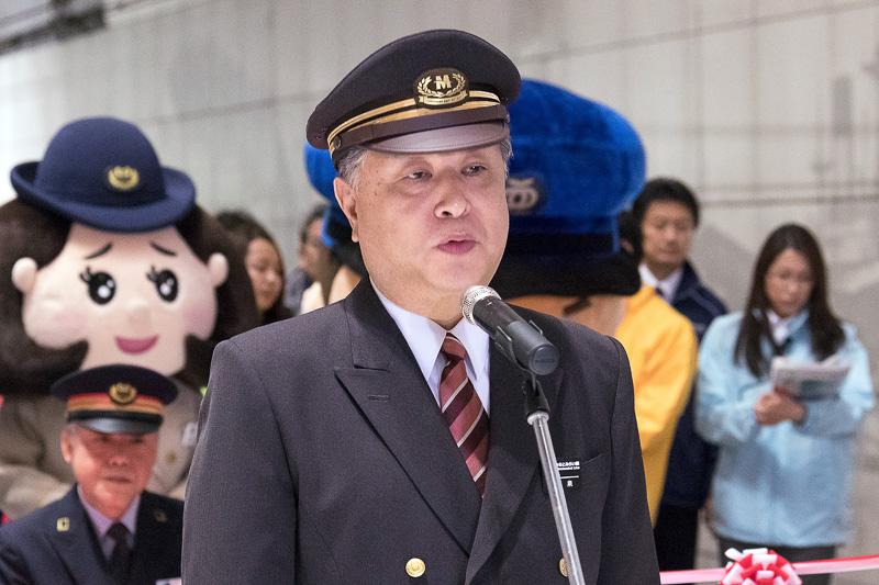 横浜高速鉄道 みなとみらい駅長 小泉久好氏