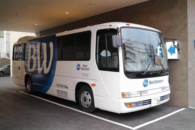 ベストウェスタン東京西葛西グランデに合わせて宿泊者専用の無料送迎バスを新調したという