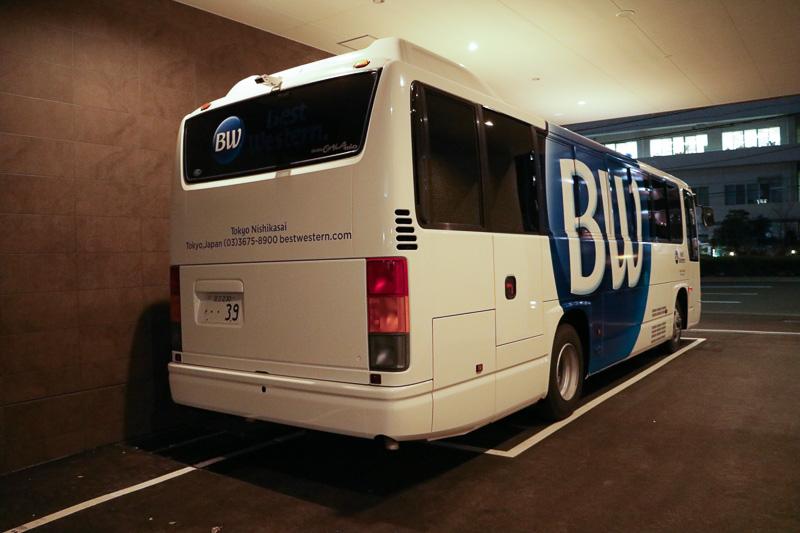 無料送迎バスの定員は49名。利用には事前の予約が必要