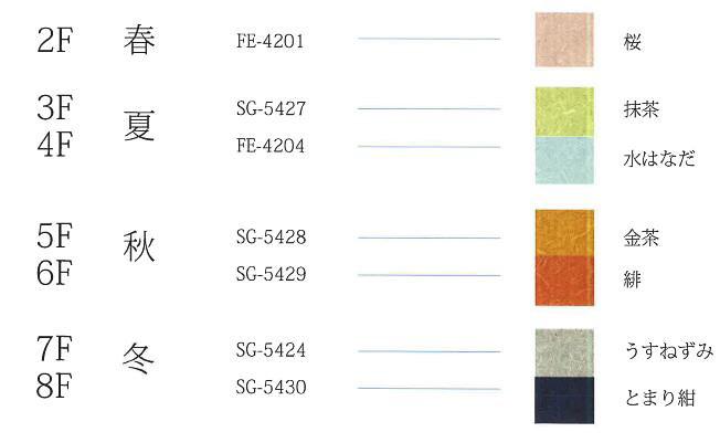 各フロアにはテーマとなる季節と色が設けられている(画像提供:レンブラントホテルズアンドリゾーツ)