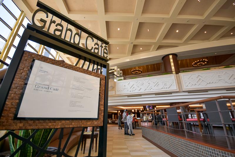 ホテル1階にあるオールデイ・ダイニング「グランカフェ」