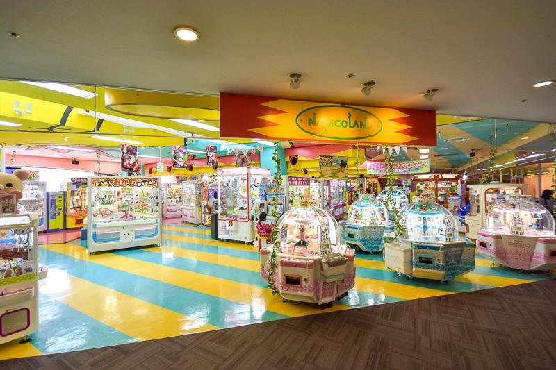 「ナムコランド」はメダルゲームやプリクラなど子供から大人まで楽しめる