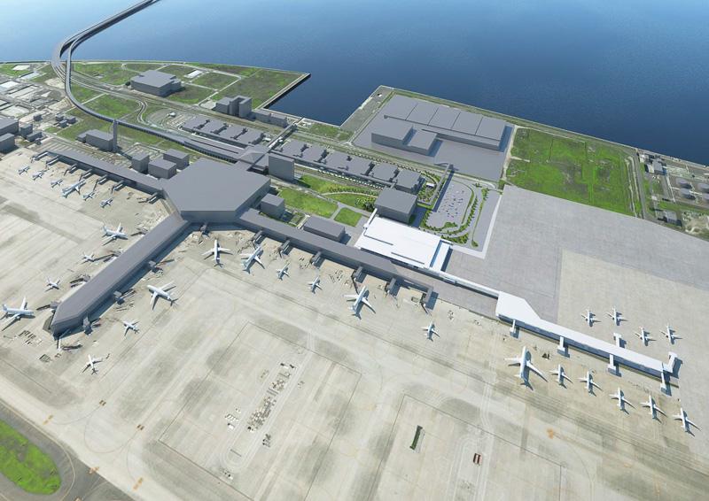 セントレア(中部国際空港)が2019年度上期から供用予定のLCC向け新ターミナルビル