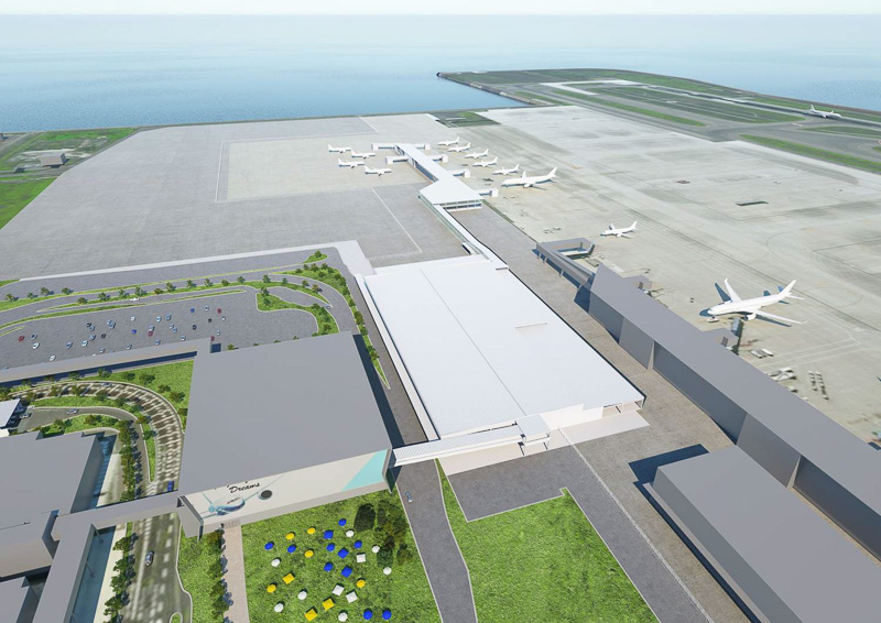 北東側から南西方面に見た新ターミナルビルのイメージ