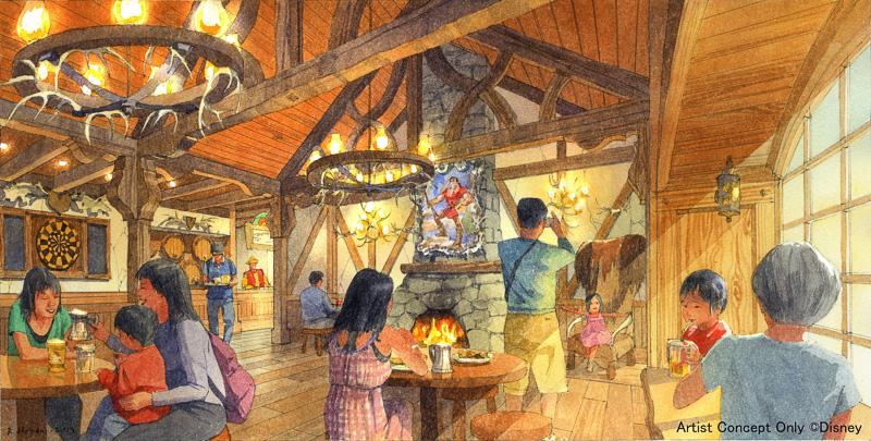 ヴィランズのガストンがもてなしてくれる酒場をイメージした「レストラン(名称未定)」