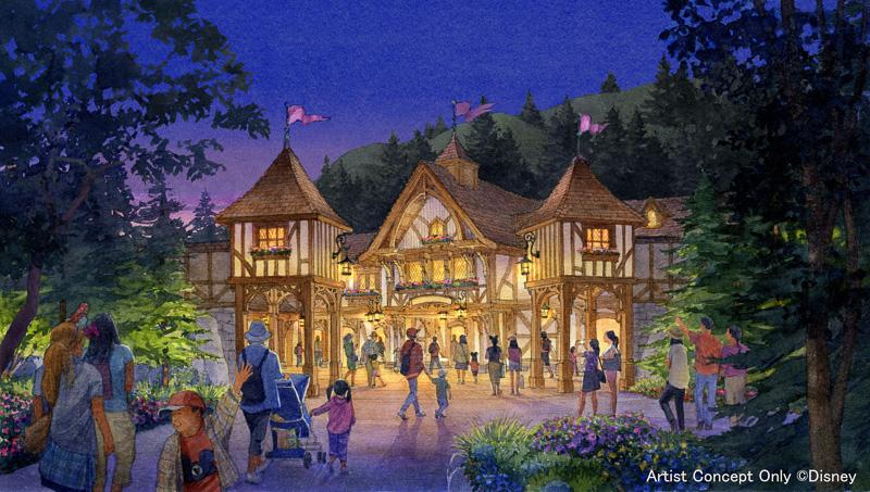 クラシックなディズニー作品をはじめ物語では重要な役割を持つ森をイメージ