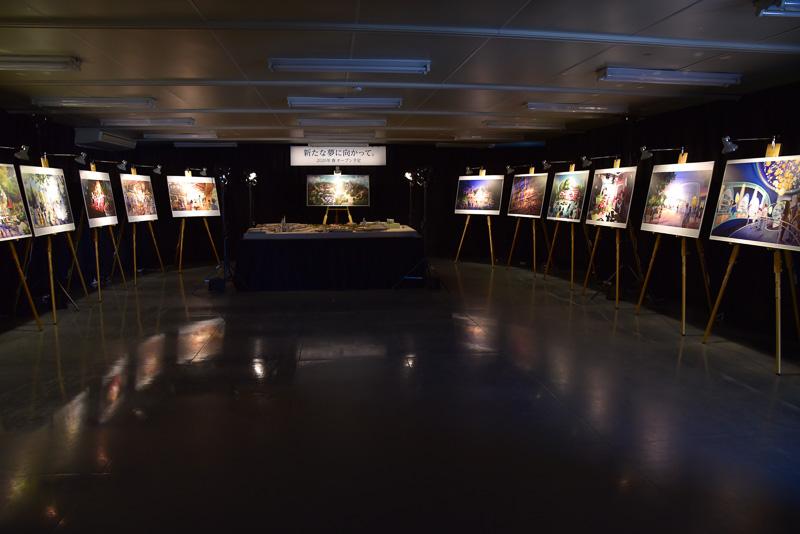 会場では、模型を中心にイメージ画も展示