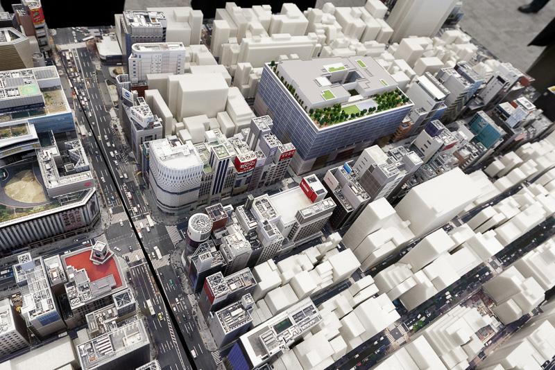 中央通り付近のミニチュアモデル