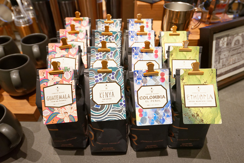 使われるのは、通常店舗の一部でも販売している高品質なコーヒー豆「STARBUCKS RESERVE」