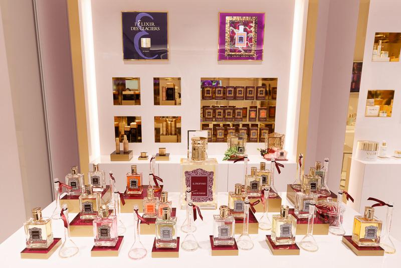 イタリアの「イル プロフーモ」というブランドの商品も取り扱う。ショコラの香りはマドンナが使ったことで知られ、世界的な人気を博したという