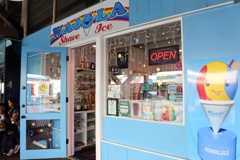ハワイ名物のシェイブアイスの人気店「ワイオラ・シェイブアイス」の支店も「ワード・ウェアハウス」に発見