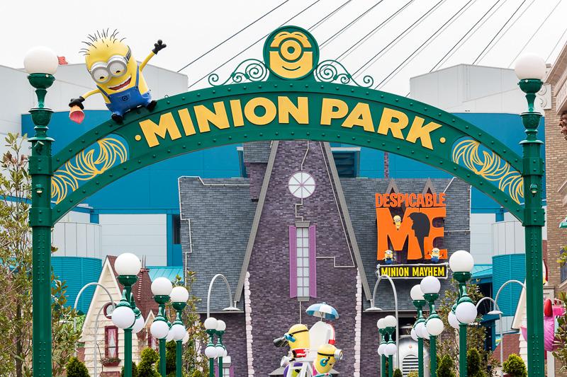 新設されたミニオン・パークの入口