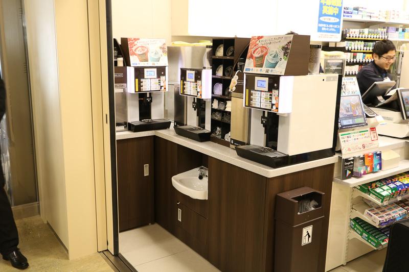 コーヒーの機械も3台揃えた