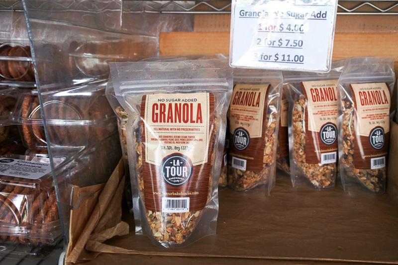 「Garlic Crisps」や「Granola」、そして「Lavosh」などが並んでいた