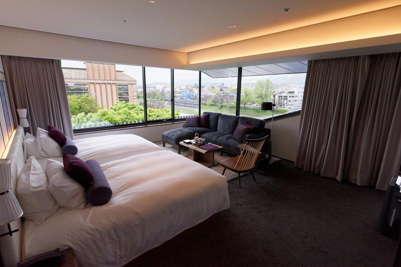 ソラリア京都プレミアにただ一室のみの最上級「鴨川ガーデンスイート」。51.5m<sup>2</sup>、1泊目安は13万円