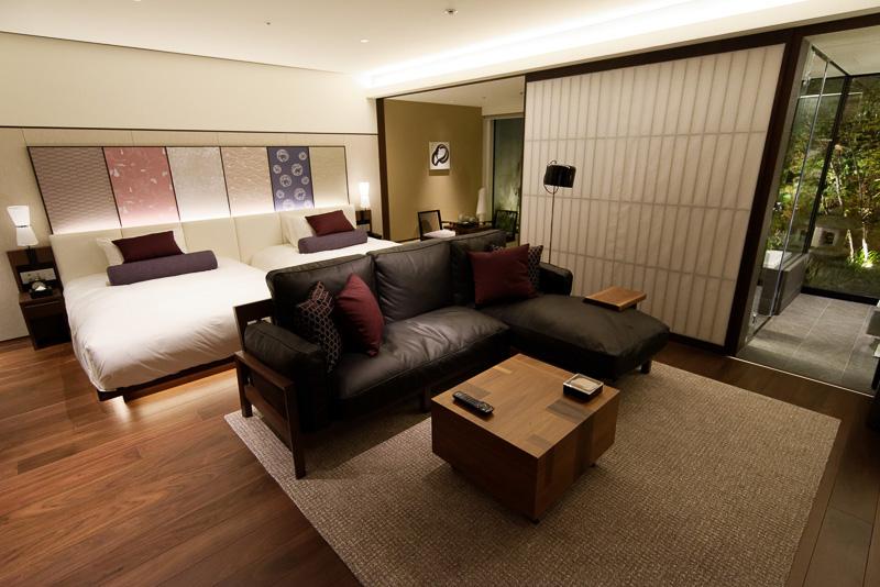「ガーデンスイート」。51m<sup>2</sup>、1泊目安10万円
