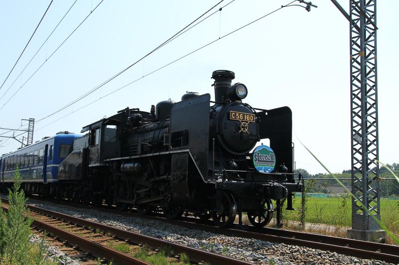 北陸本線の米原駅~木ノ本駅間で運行する「SL北びわこ号」