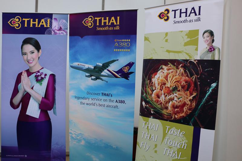 モデルプレーンも展示されていた、タイ国際航空のブース