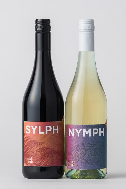 「Sylph South Australia, Ned Goodwin MW Selection Red 2017」(左)と「Nymph South Australia, Ned Goodwin MW Selection White 2017」(右)