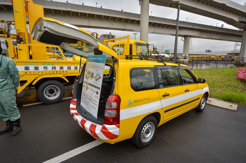 走行しながらETCの電界強度を測定できるETC用電界強度測定車