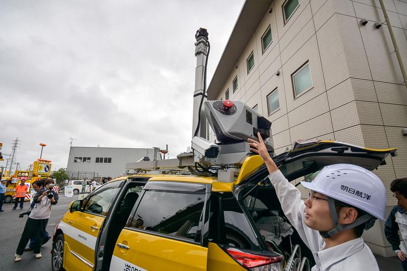 レーザースキャナーや全方位カメラが装備される