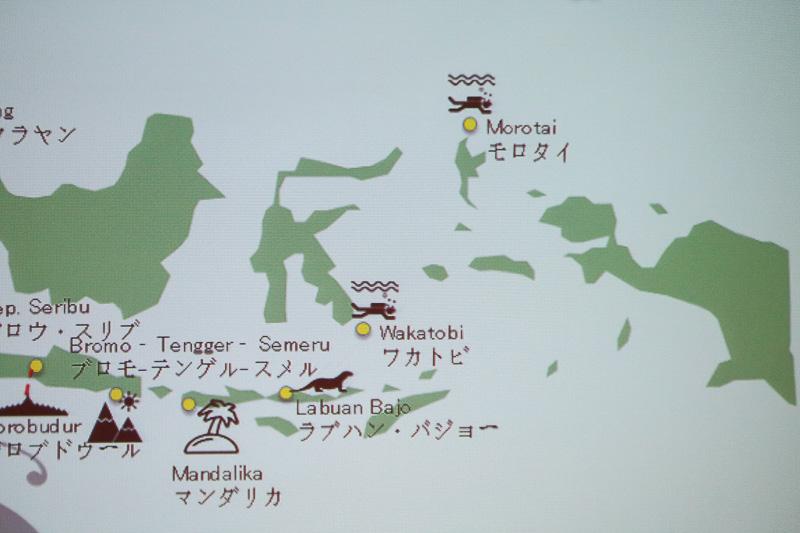 バリやジャカルタに匹敵する観光エリアを育てようと「New Bali 10」という取り組みを行なっている