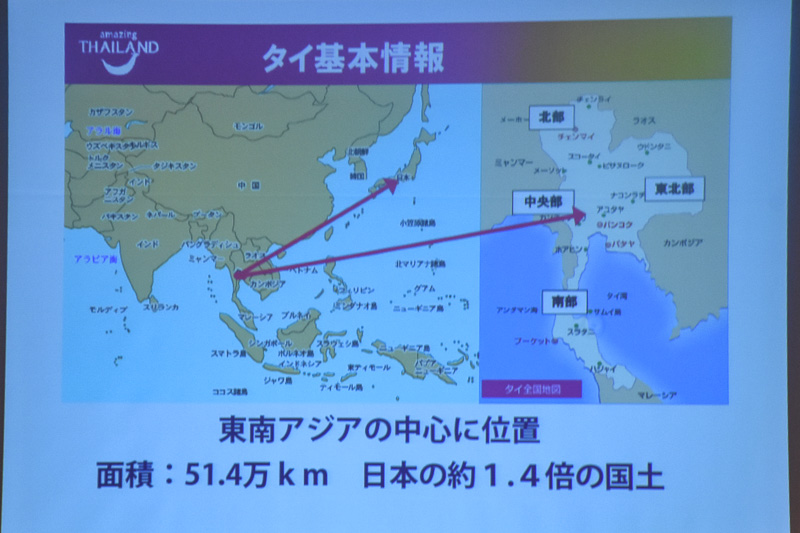 タイの人口約6600万人に対し、人口の半数近い約3200万人の観光客が訪れる