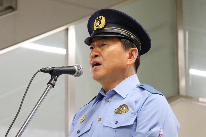 警視庁蒲田警察署の山崎署長
