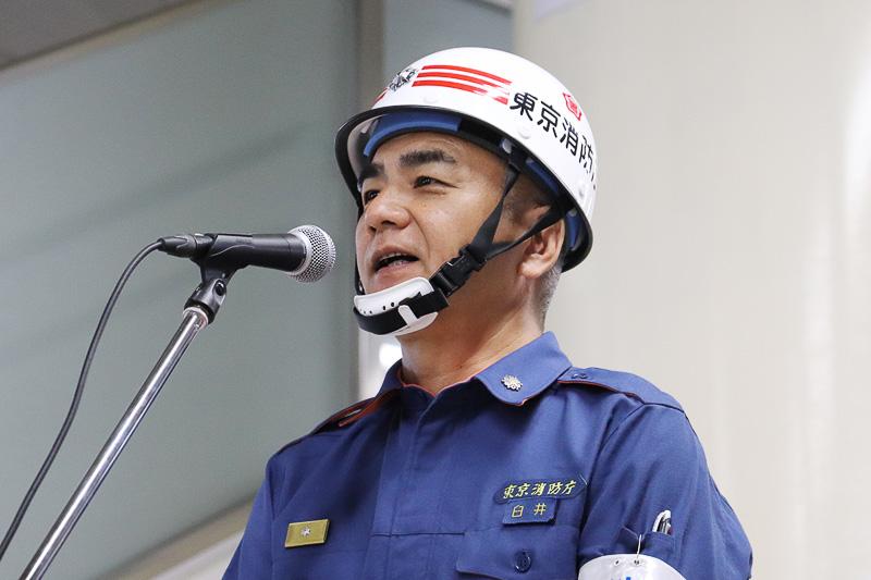 東京消防庁蒲田消防署の臼井署長