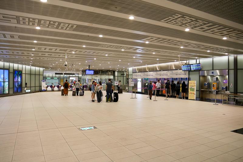 ここがMRT桃園空港線の第1ターミナル駅だ
