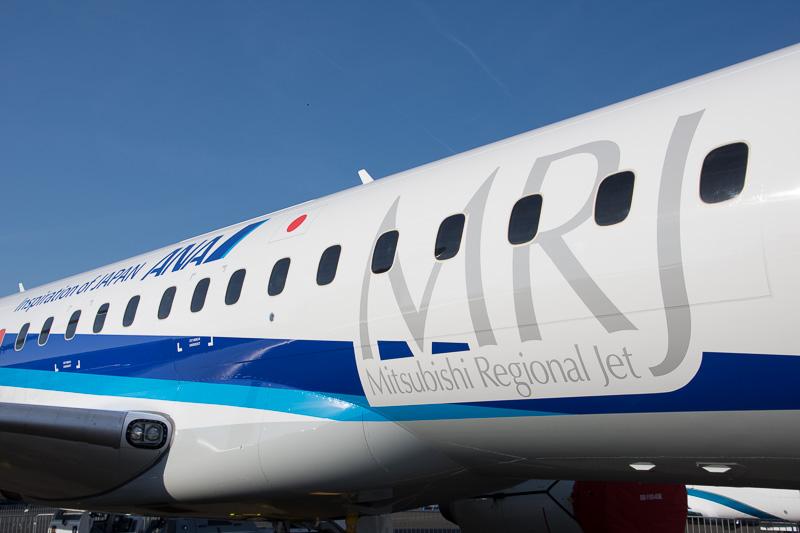 欧州の航空ショーで初展示となるMRJ