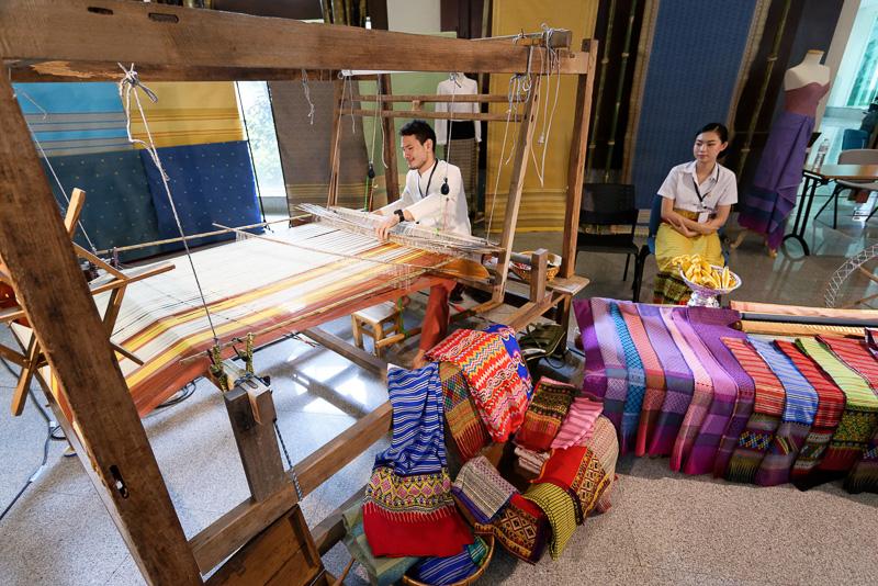 こちらでもタイ北部の伝統技能を紹介