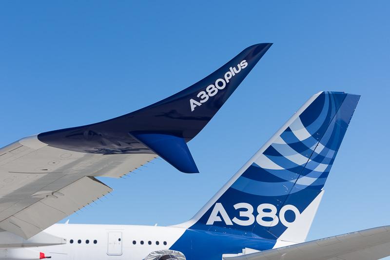 エアバスがA380型機の効率向上モデル「A380plus」の開発を発表。パリ航空ショー2017で実機を展示している