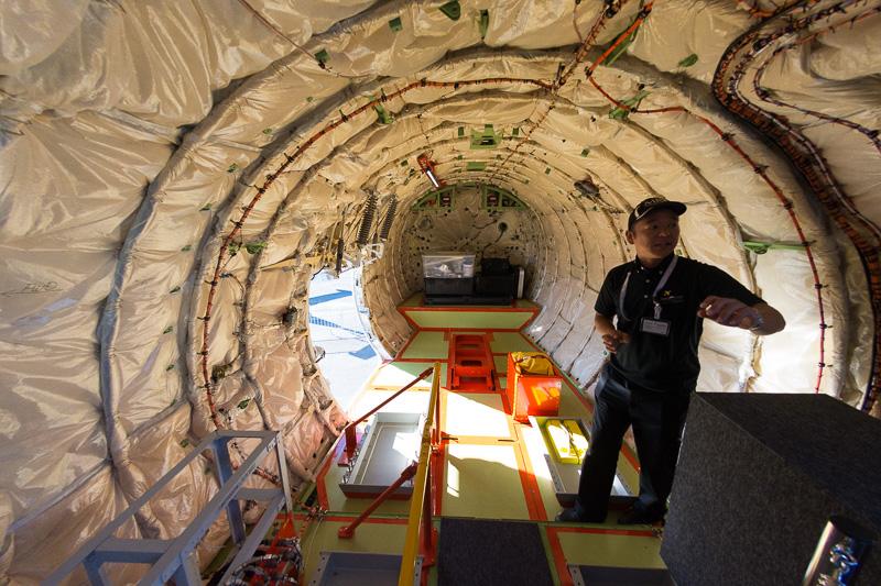機体尾部の貨物室