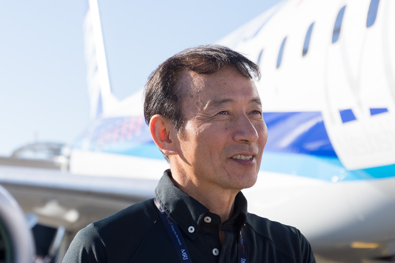 三菱航空機株式会社 チーフテストパイロット 安村佳之氏