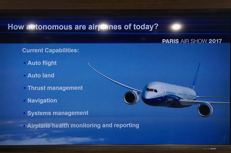 飛行機での自動操縦に必要な要素