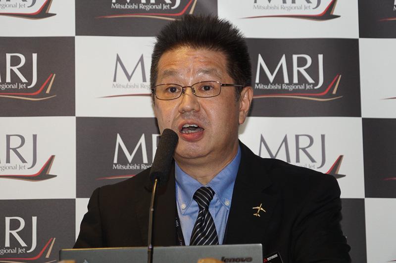 三菱航空機株式会社 営業本部 営業部長 福原裕悟氏