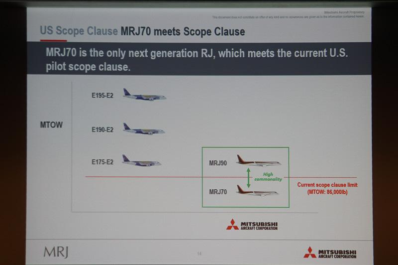 MRJ70が現行のスコープ・クローズに対応
