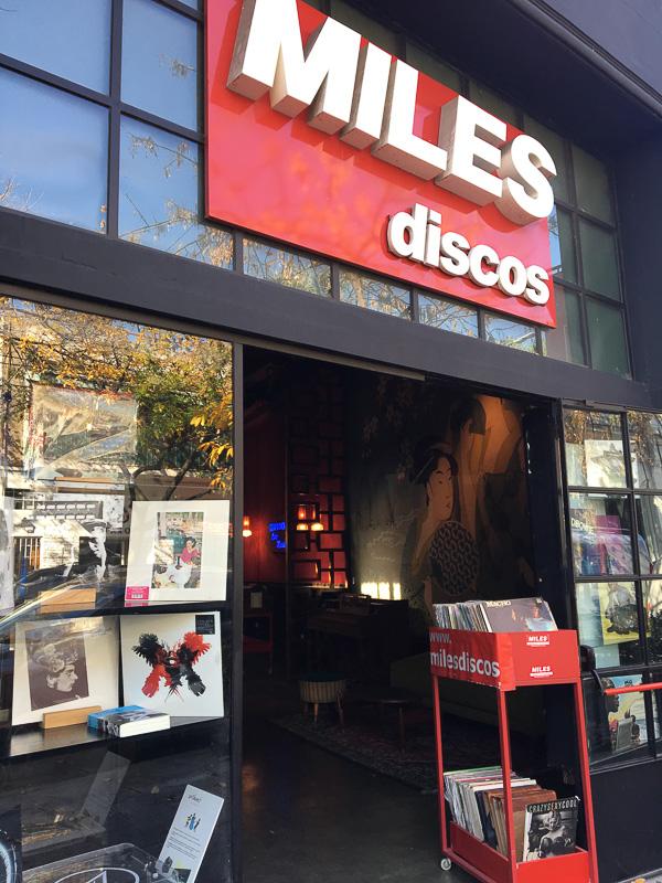 パレルモソーホーのレコード、CD屋MILES discos