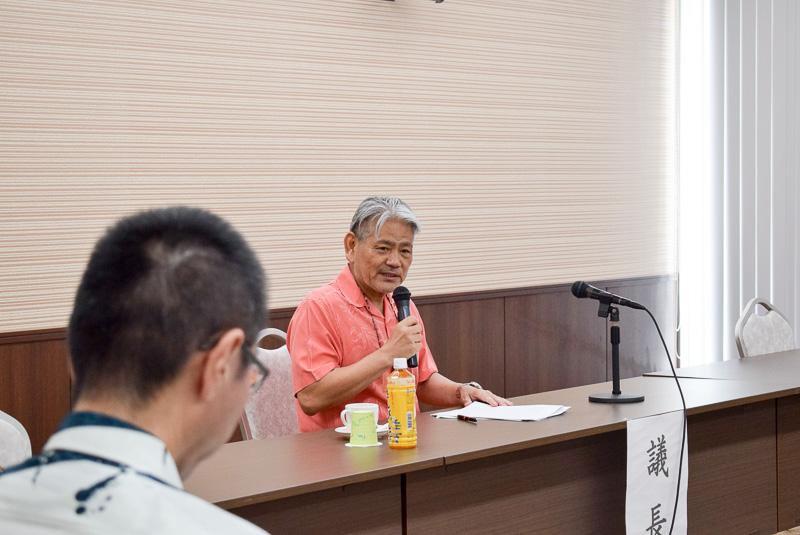 2017年度OCVBの代表理事(会長)に就任した平良朝敬氏