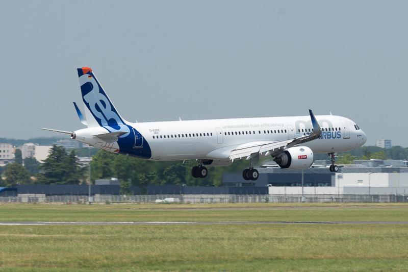 エアバス A321neo型機の展示飛行
