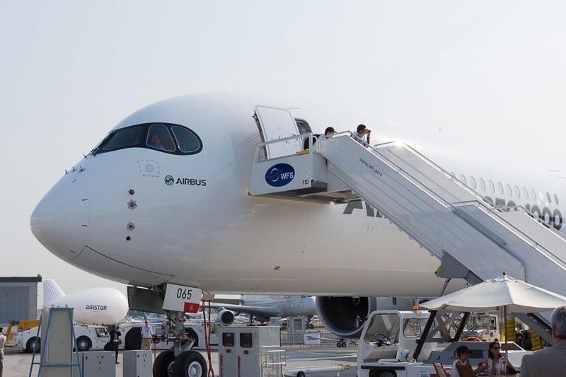 エアバス A350-1000型機の飛行試験2号機(F-WLXV)