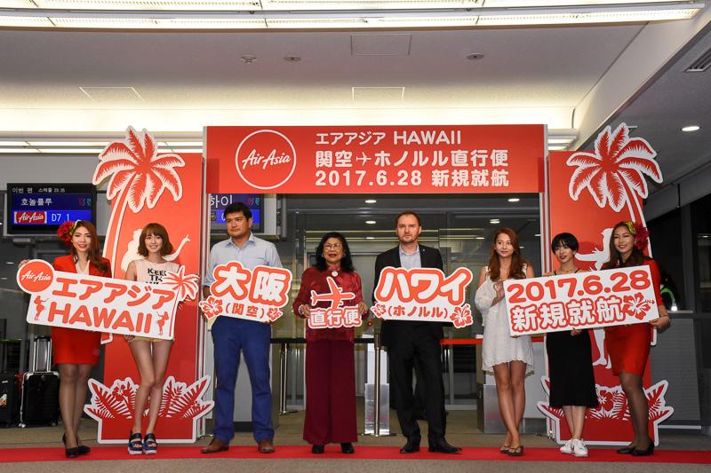 エアアジアXは関空~ホノルル線就航記念セールを開始した