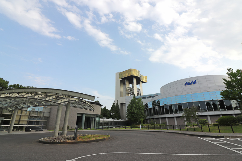 13万坪の敷地を持つアサヒビール茨城工場